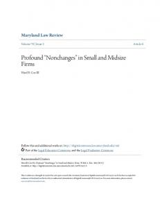Profound Nonchanges in Small and Midsize Firms
