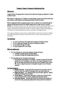 Progeny Theatre Company s Marketing Plan