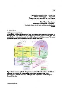 Progesterone in Human Pregnancy and Parturition