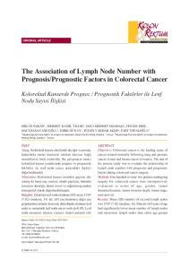 Prognostic Factors in Colorectal Cancer