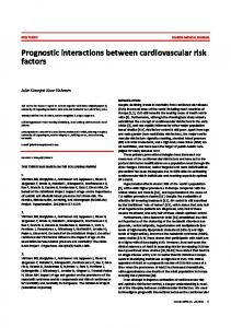 Prognostic interactions between cardiovascular risk factors
