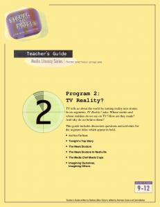 Program 2: TV Reality?
