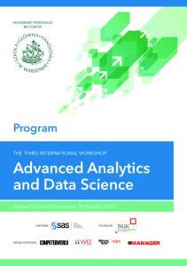 Program. Advanced Analytics and Data Science