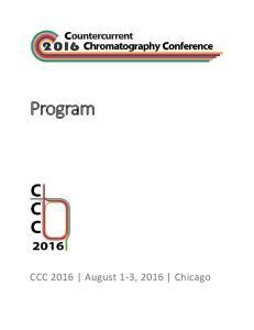 Program. CCC 2016 August 1-3, 2016 Chicago