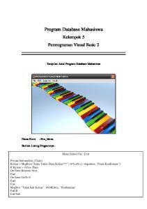 Program Database Mahasiswa