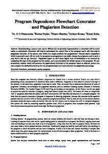 Program Dependence Flowchart Generator and Plagiarism Detection
