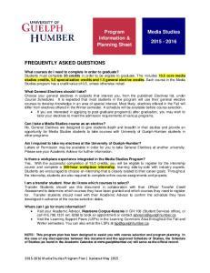 Program Information & Planning Sheet