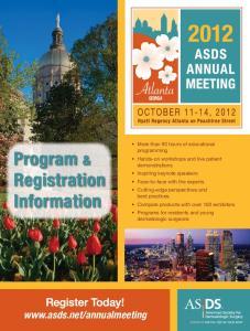 Program & Registration Information