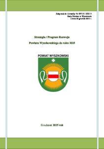 Program Rozwoju. Powiatu Wyszkowskiego do roku 2025