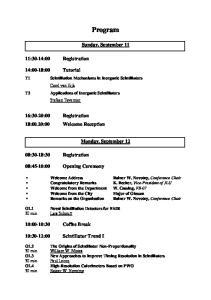 Program. Sunday, September 11