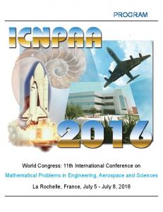 PROGRAM. World Congress: 11th International Conference on Mathematical Problems in Engineering, Aerospace and Sciences