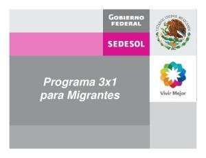 Programa 3x1 para Migrantes
