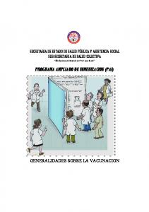 PROGRAMA AMPLIADO DE INMUNIZACION (PAI)