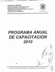 PROGRAMA ANUAL DE CAPACITACION 2010