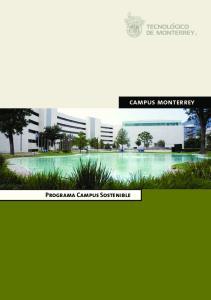 Programa Campus Sostenible. campus monterrey