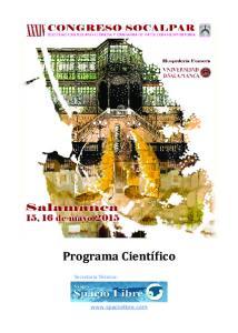 Programa Cientí ico. Secretaria Te cnica: