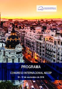 PROGRAMA CONGRESO INTERNACIONAL AECEP