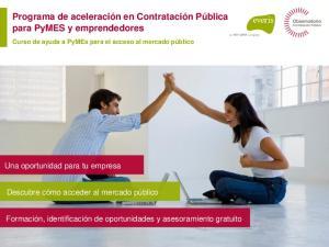 Programa de aceleración en Contratación Pública para PyMES y emprendedores