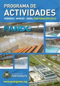 PROGRAMA DE ACTIVIDADES. Febrero - Marzo - Abril Portugalete 2013