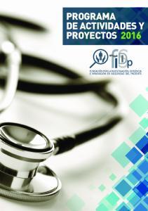 PROGRAMA DE ACTIVIDADES Y PROYECTOS 2016