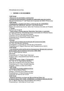 PROGRAMA DE ACTOS VIERNES 12 DE DICIEMBRE