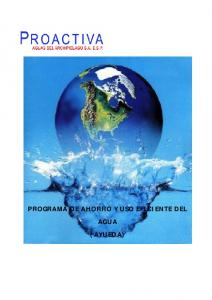 PROGRAMA DE AHORRO Y USO EFICIENTE DEL