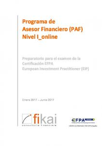 Programa de Asesor Financiero (PAF) Nivel I_online