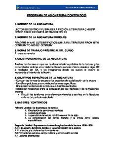 PROGRAMA DE ASIGNATURA (CONTENIDOS)