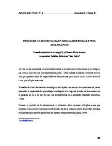 PROGRAMA DE AUTOEFICACIA EN HABILIDADES SOCIALES PARA ADOLESCENTES