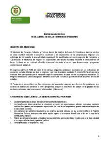 PROGRAMA DE BECAS. REGLAMENTO DE BECAS ESTUDIOS DE POSGRADO
