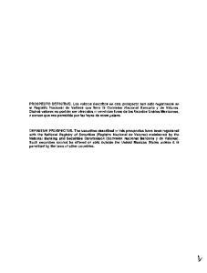 PROGRAMA DE CERTIFICADOS BURSATILES DE LARGO PLAZO CON CARAcTER REVOLVENTE