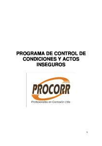 PROGRAMA DE CONTROL DE CONDICIONES Y ACTOS INSEGUROS