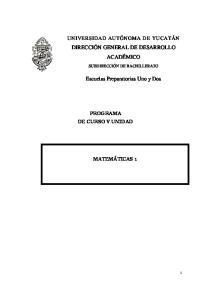 PROGRAMA DE CURSO Y UNIDAD