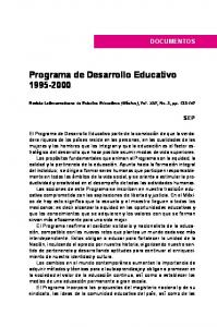 Programa de Desarrollo Educativo