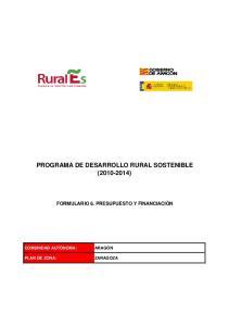 PROGRAMA DE DESARROLLO RURAL SOSTENIBLE ( )