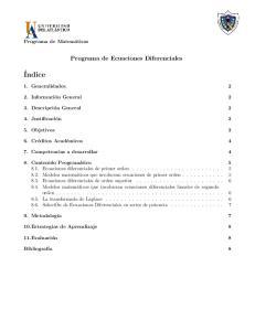 Programa de Ecuaciones Diferenciales