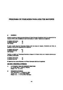 PROGRAMA DE EDUCACION PARA ADULTOS MAYORES