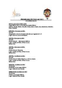 PROGRAMA DE FALLAS 2012
