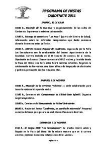 PROGRAMA DE FIESTAS CARDENETE 2011
