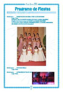 Programa de Fiestas Viernes, 12 de agosto