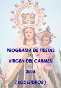 PROGRAMA DE FIESTAS VIRGEN DEL CARMEN ( LOS ISIDROS )