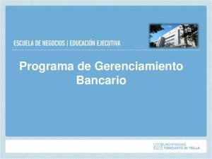 Programa de Gerenciamiento Bancario