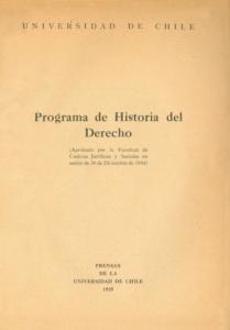 Programa de Historia del Derecho