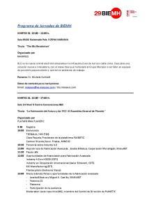 Programa de Jornadas de BIEMH