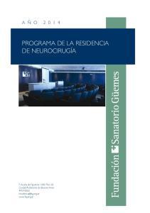 PROGRAMA DE LA RESIDENCIA