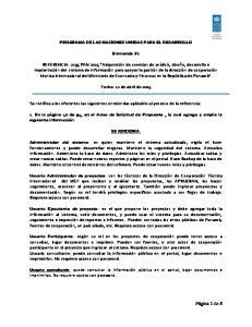PROGRAMA DE LAS NACIONES UNIDAS PARA EL DESARROLLO. Enmienda #2