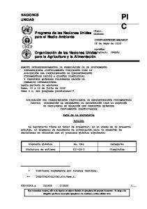 Programa de las Naciones Unidas para el Medio Ambiente. Organización de las Naciones Unidas para la Agricultura y la Alimentación