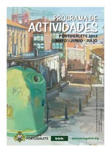PROGRAMA DE PORTUGALETE 2012 MAYO - JUNIO - JULIO.  Certamen de Pintura al Aire Libre, Portugalete 2011