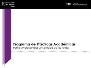 Programa de Prácticas Académicas Perfiles Profesionales Universidad de los Andes