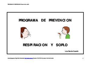 PROGRAMA DE PREVENCION RESPIRACION Y SOPLO